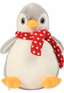 Pingüino de peluche con cremallera