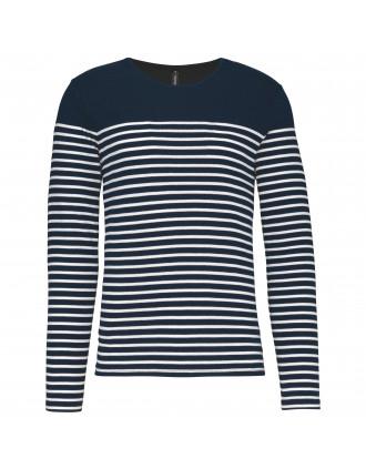 Camiseta marinera de manga larga de hombre