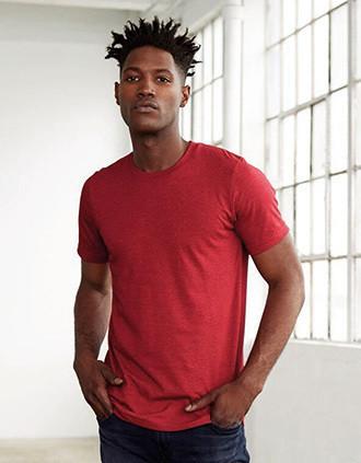 Camiseta cuello redondo hombre Heather