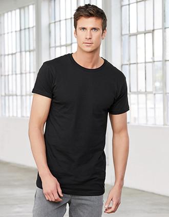 Camiseta de corte largo hombre