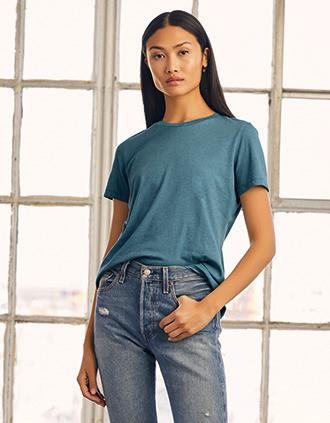 Camiseta cuello redondo Heather