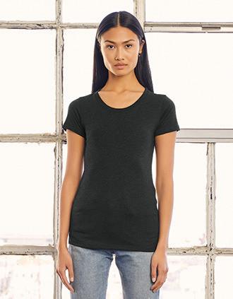 Camiseta Triblend cuello redondo mujer
