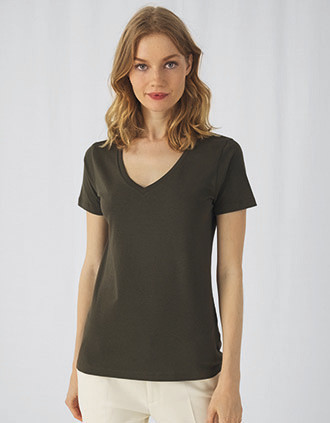 Camiseta Organic Inspire cuello de pico mujer