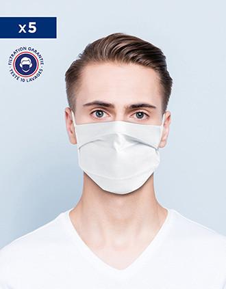 Mascarilla Afnor UNS1  - Lavable y reutilizable con pinza nasal
