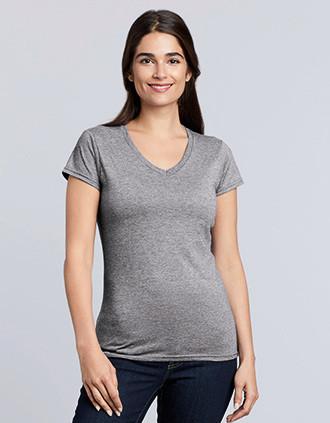 Camiseta Softstyle cuello de pico mujer