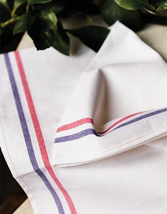 PAÑO DE COCINA CON 2 RAYAS «Origine France Garantie»