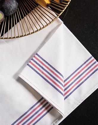 PAÑO DE COCINA CON 5 RAYAS «Origine France Garantie»
