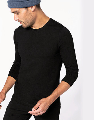 Camiseta con elastán manga larga hombre