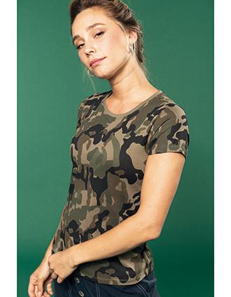 Camiseta camuflaje mujer