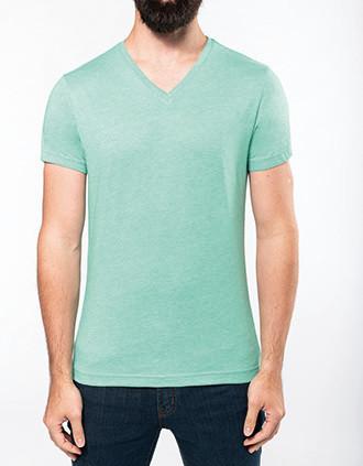 Camiseta Melange con cuello de pico de hombre