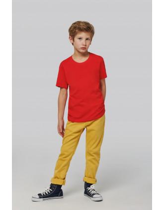 Camiseta cuello redondo manga corta para niños