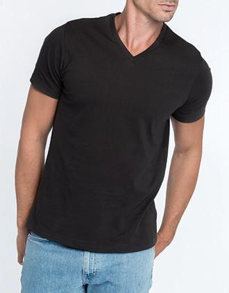 Camiseta con cuello de pico de hombre