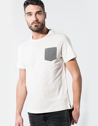 Camiseta algodón orgánico con bolsillo