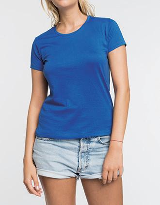 Camiseta con cuello redondo de mujer