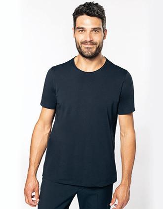 Camiseta orgánica sin costuras en cuello hombre