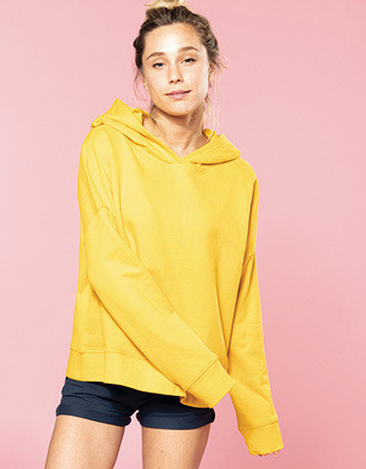 Sudadera Lounge algodón orgánico con capucha mujer