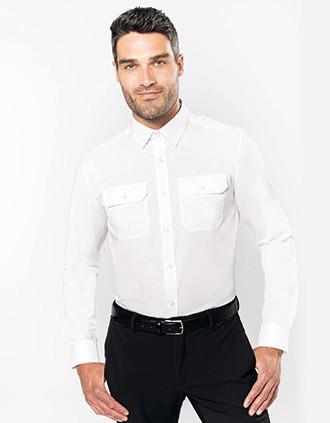 Camisa piloto manga larga hombre