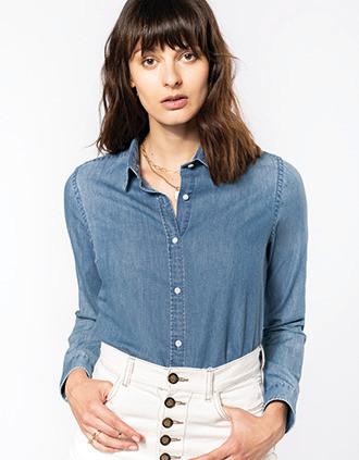 Camisa Denim mujer