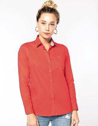 Camisa de algodón Nevada de manga larga para mujer