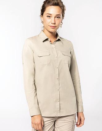 Camisa Safari manga larga mujer