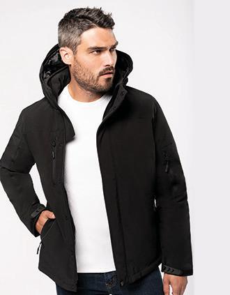 Parka Softshell acolchada con capucha hombre