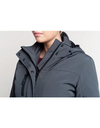 Parka Softshell acolchada con capucha mujer