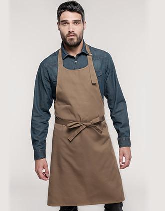 Delantal poliéster/algodón sin bolsillos