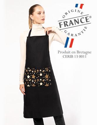 DELANTAL NAVIDEÑO ADULTO «Origine France Garantie»