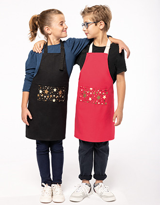 DELANTAL NAVIDEÑO NIÑOS «Origine France Garantie»