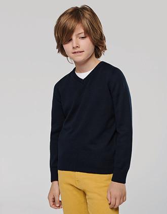 Jersey cuello de pico niños