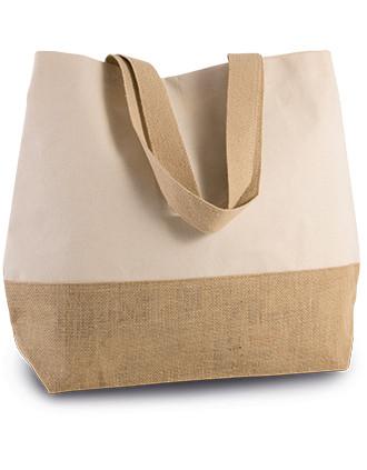Bolsa de compras de yute & algodón canvas