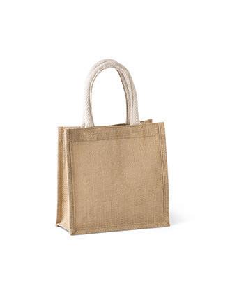 Bolsa estilo cesta de tela de yute, modelo pequeño