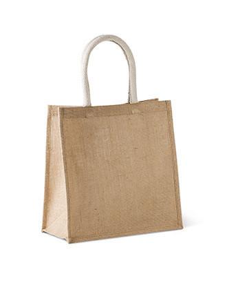 Bolsa estilo cesta de tela de yute, modelo grande