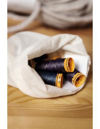 Bolsa algodón orgánico - cierre de cordón