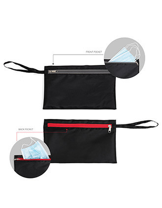 Bolsa de doble compartimento, uno de ellos con tejido impermeable