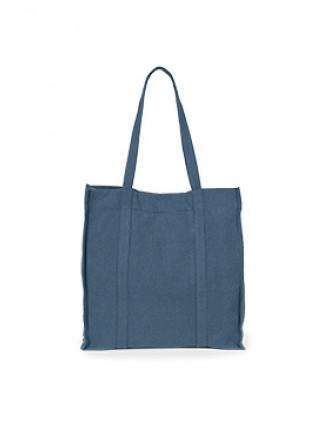 Bolsa de compras de tela tejida a mano