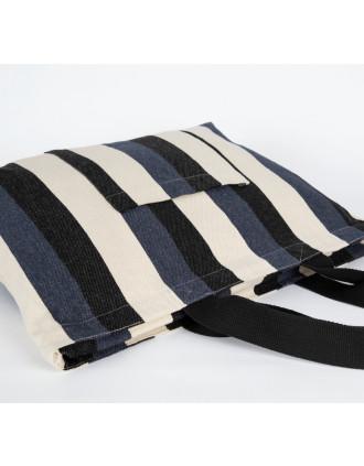 Bolsa de compras reciclada - diseño a rayas