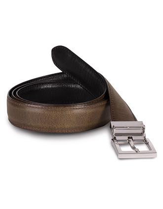 Cinturón  reversible de cuero - 30 mm