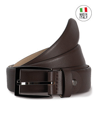 Cinturón classic ajustable con borde redondo