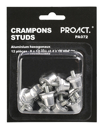 Caja de 12 tacos hexagonales de aluminio