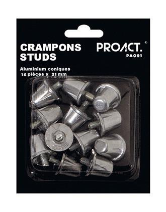 Caja de 16 crampones de aluminio cónicos