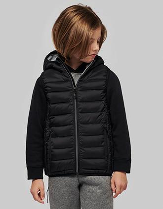 Chaleco acolchado con capucha para niños