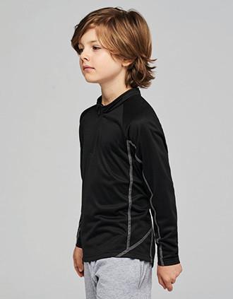 Sudadera de running 1/4 cremallera niño