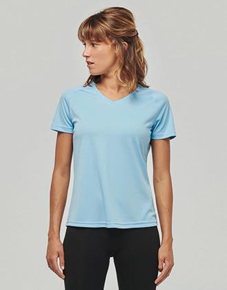 Camiseta de deporte cuello de pico mujer
