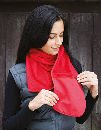 Bufanda Polartherm™ con bolsillo con cremallera