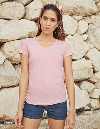 Camiseta Valueweight cuello de pico mujer (61-398-0)