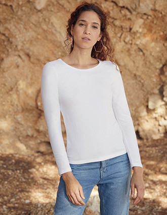 Camiseta Valueweight manga larga mujer (61-404-0)