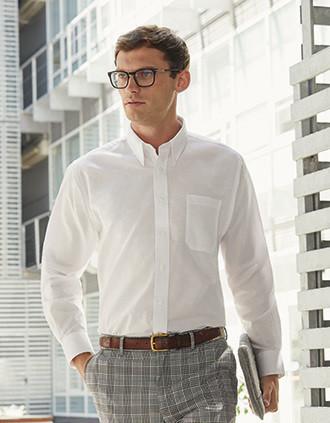 Camisa Oxford manga larga hombre (65-114-0)
