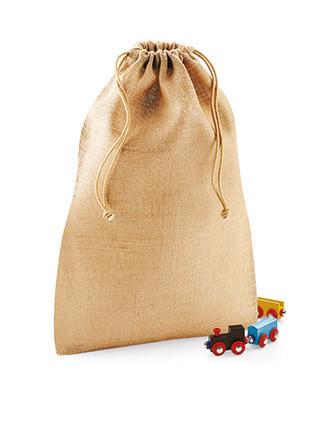 Bolsa de yute con cordones