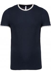 Camiseta de punto piqué con cuello redondo de hombre